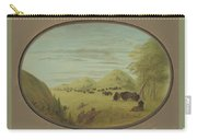 Catlin And Two Companions Shooting Buffalo Carry-all Pouch