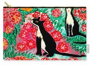 Cats And Roses Carry-all Pouch