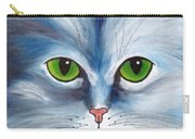 Cat Eyes Blue Carry-all Pouch