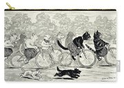 Cats In A Bicycle Race, Hyde Park, 1896 Carry-all Pouch