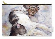 Cats In Watercolor Carry-all Pouch