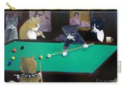 Cats Playing Pool Carry-all Pouch by Gail Eisenfeld