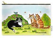 Cats Talking In A Sunny Garden Carry-all Pouch