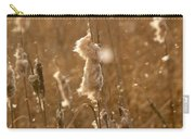 Cattails In Snowstorm 3 Carry-all Pouch