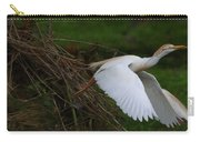 Cattle Egret Begins Flight With Nest Materials - Digitalart Carry-all Pouch