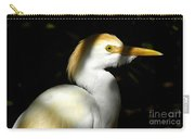 Cattle Egret In Shadow Carry-all Pouch