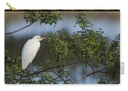 Cattle Egret In The Morning Light Carry-all Pouch