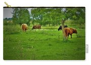 Cattle Grazing In A Lush Pasture Carry-all Pouch