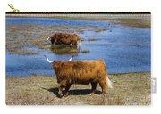 Cattle Scottish Highlanders, Zuid Kennemerland, Netherlands Carry-all Pouch