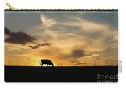 Cattle Sunset Silhouette Carry-all Pouch