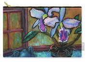 Cattleya Orchid And Frog By The Window Carry-all Pouch
