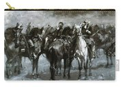 Cavalry In An Arizona Sandstorm 1889 Carry-all Pouch
