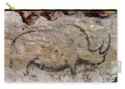 Cave Art: Rhinoceros Carry-all Pouch