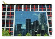 Cbc Building Tv Screen Of Downtown Highrises Carry-all Pouch