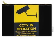 Cctv Warning Sign Carry-all Pouch