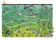 Cedar Park Texas Cartoon Map Carry-all Pouch