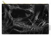 Cedar Roots Black And White Carry-all Pouch