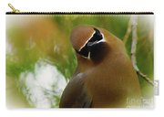 Cedar Waxwing Beauties 12 Carry-all Pouch