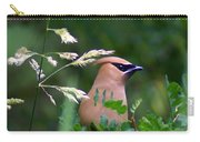 Cedar Waxwing Facing Right Carry-all Pouch