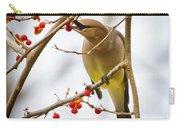 Cedar Waxwing Feeding  Carry-all Pouch