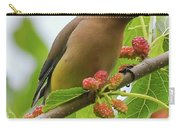 Cedar Waxwing With Mulberries Carry-all Pouch