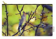 Cedar Waxwing With Windblown Crest Carry-all Pouch