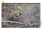 Cedar Waxwings Feeding Carry-all Pouch