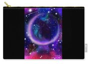 Celestial Crescent Moon Cat  Carry-all Pouch