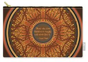 Celtic Dragonfly Mandala In Orange And Brown Carry-all Pouch