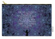 Celtic She Walks In Beauty Carry-all Pouch
