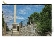 Cemetery Entrance And Lovejoy Monument  Carry-all Pouch