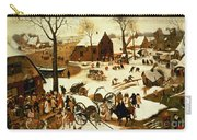 Census At Bethlehem Carry-all Pouch by Pieter the Elder Bruegel