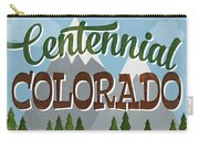 Centennial Colorado Snowy Mountains	 Carry-all Pouch