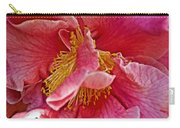 Center Of A Pink Camellia At Pilgrim Place In Claremont-california  Carry-all Pouch