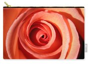 Center Of The Peach Rose Carry-all Pouch