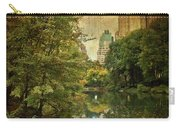 Central Park In Autumn Texture 4 Carry-all Pouch