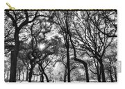 Central Park In Black And White Carry-all Pouch