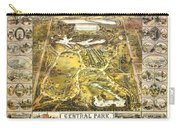 Central Park Map, Manhattan New York, 1863 Carry-all Pouch