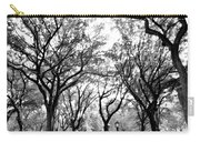 Central Park Nyc In Black And White Carry-all Pouch