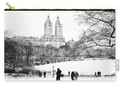 Central Park Snow Lakeside Carry-all Pouch
