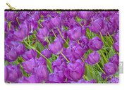 Central Park Spring-purple Tulips Carry-all Pouch