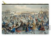 Central Park, Winter The Skating Pond, 1862 Carry-all Pouch
