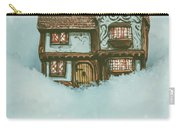 Ceramic Cottage In Snow Carry-all Pouch