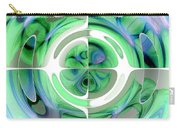 Cerulean Blue And Jade Abstract Collage Carry-all Pouch