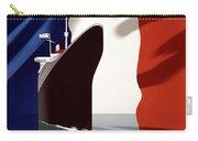 C.g. Transatlantique Vintage Travel Poster Carry-all Pouch