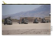 Ch-47 Chinook Helicopters On The Flight Carry-all Pouch