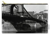Chain Bridge Of Budapest In 1990 Carry-all Pouch