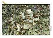 Chairs In Backyard Carry-all Pouch
