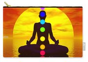 Chakras At Sunset - 3d Render Carry-all Pouch