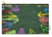 Chalk Drawing Colorful Arrows Carry-all Pouch